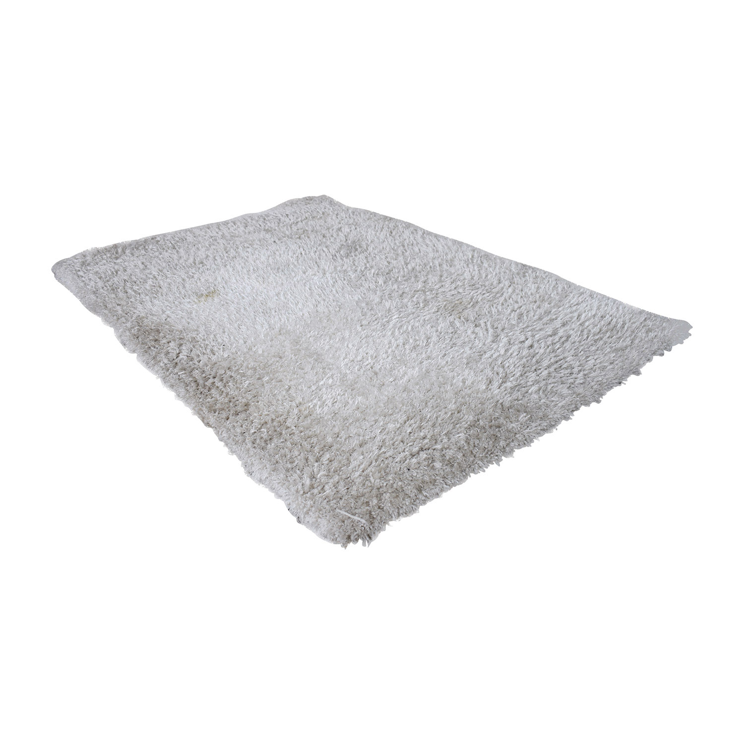 buy Bob's Furniture Venice White Shag Rug Bob's Furniture