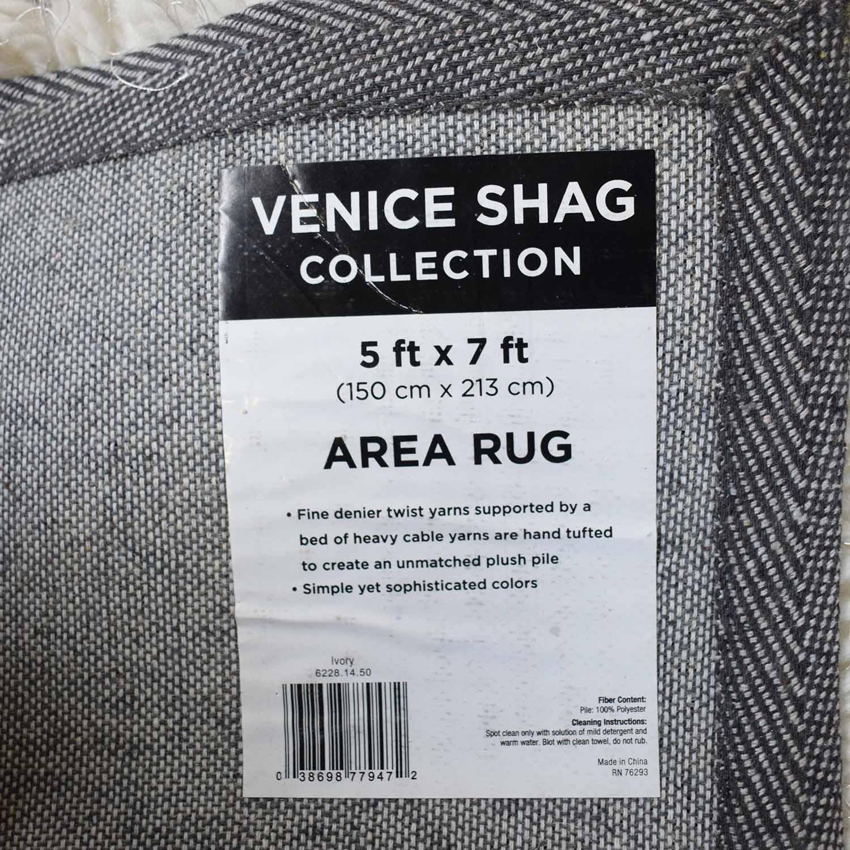 shop Bob's Furniture Venice White Shag Rug Bob's Furniture