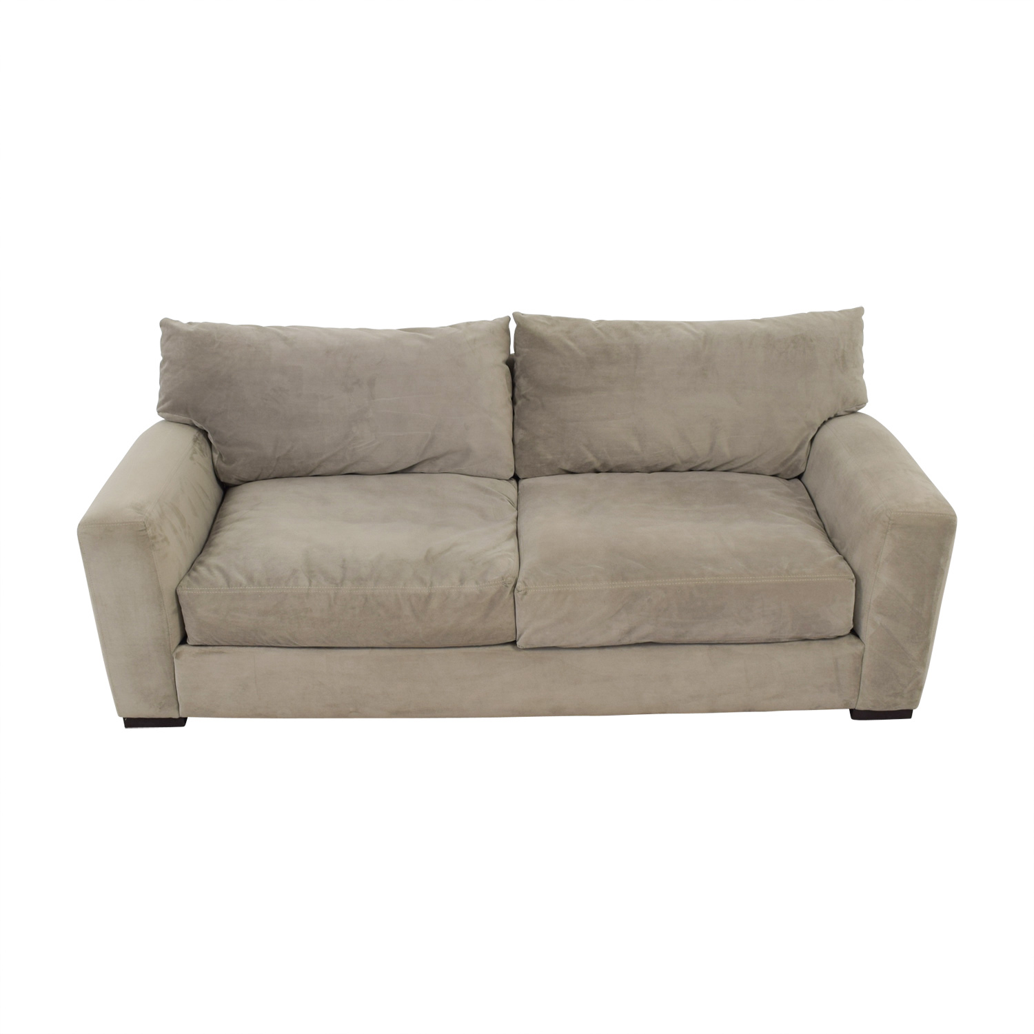 buy Raymour & Flanigan Grey Carlin Microfiber Sofa Raymour & Flanigan Sofas