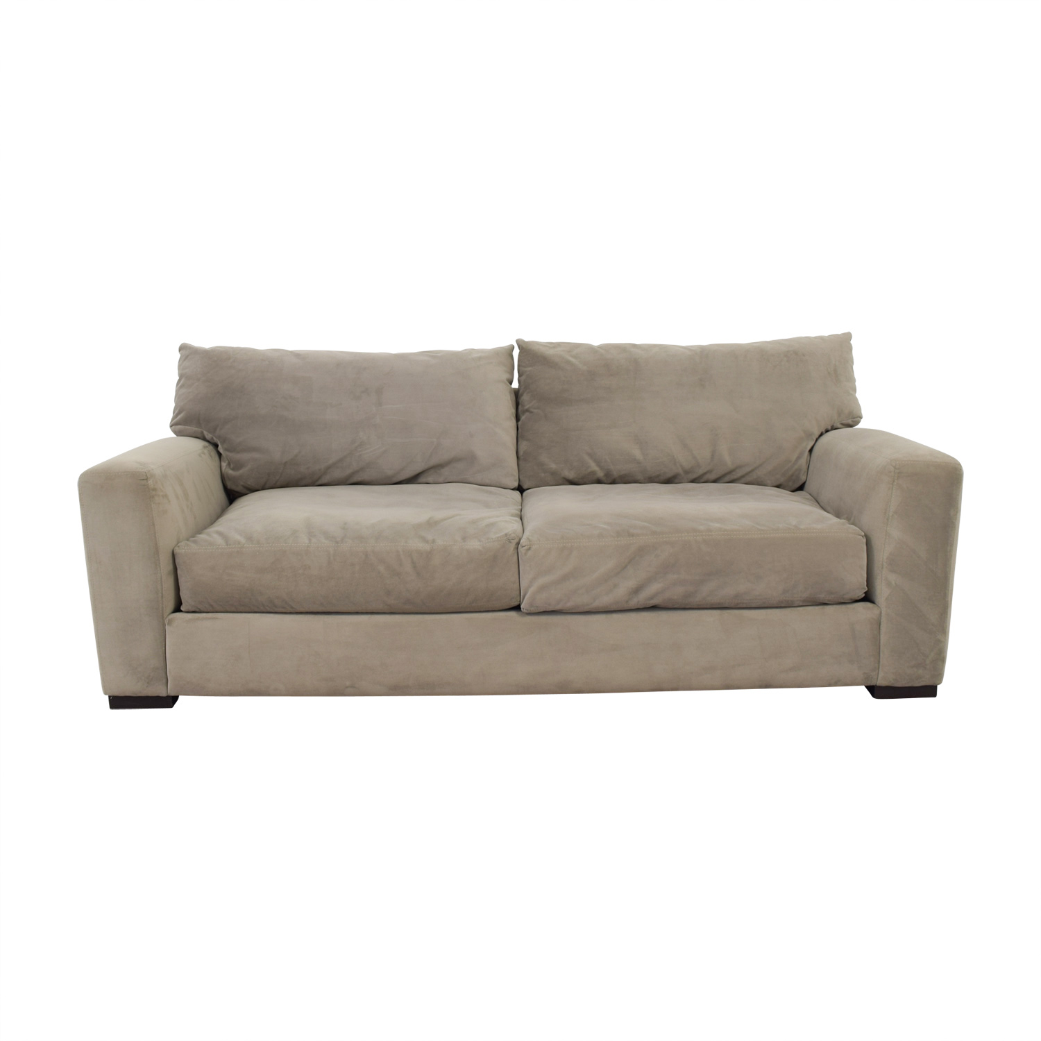 Raymour & Flanigan Raymour & Flanigan Grey Carlin Microfiber Sofa used