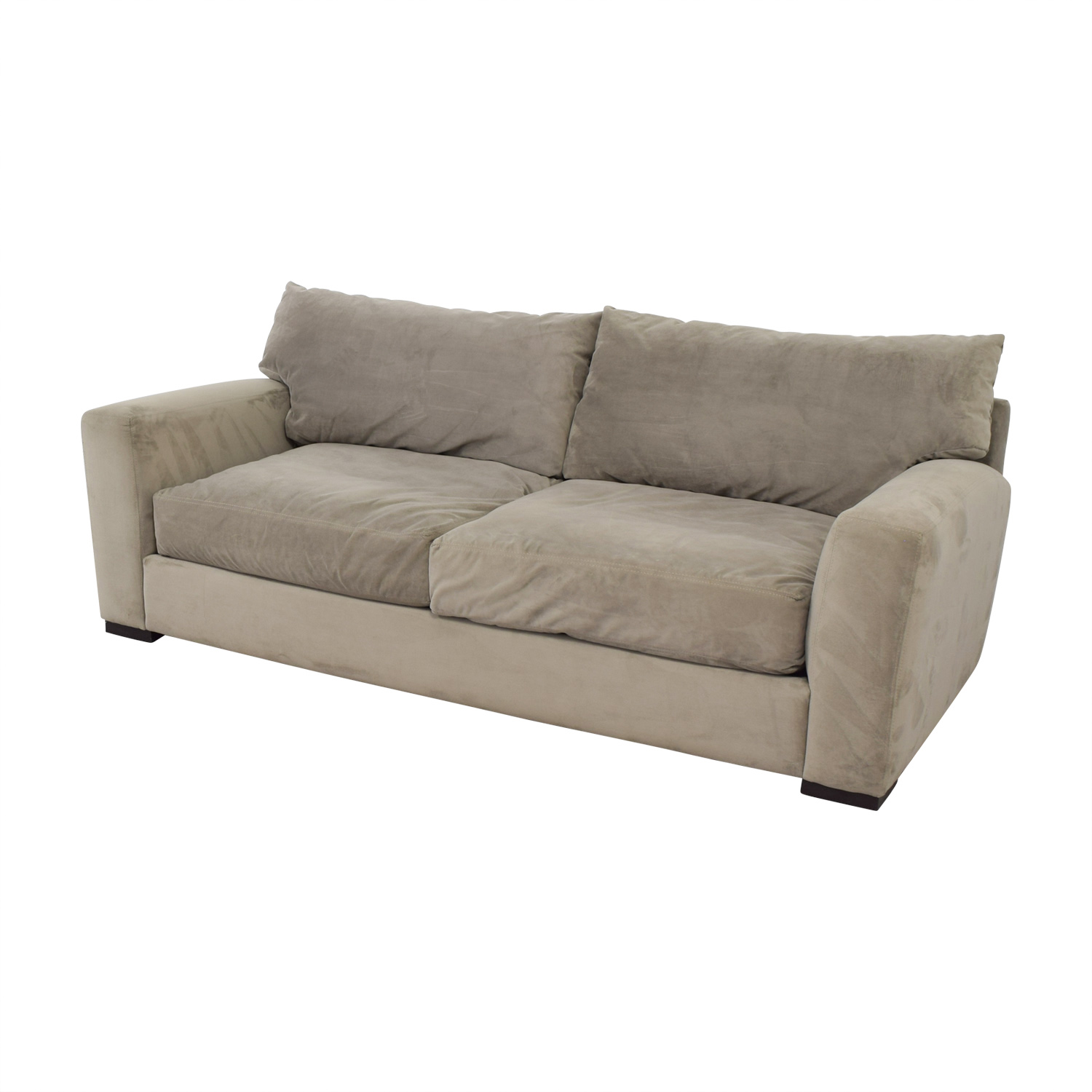 87% OFF - Raymour & Flanigan Raymour & Flanigan Grey Carlin Microfiber Sofa  / Sofas