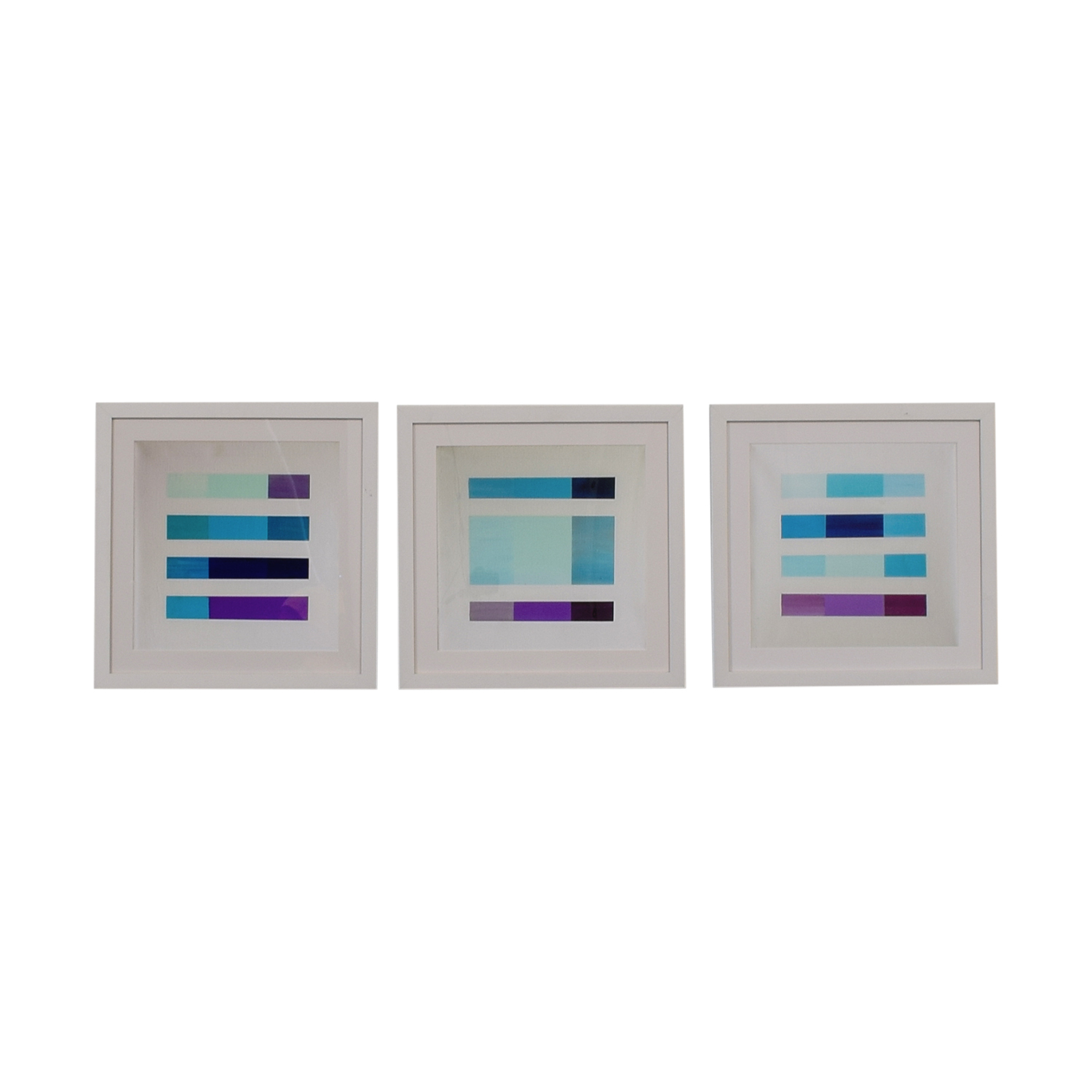 45% OFF - Castelli Castelli Purple and Blue Abstract Framed Prints ...