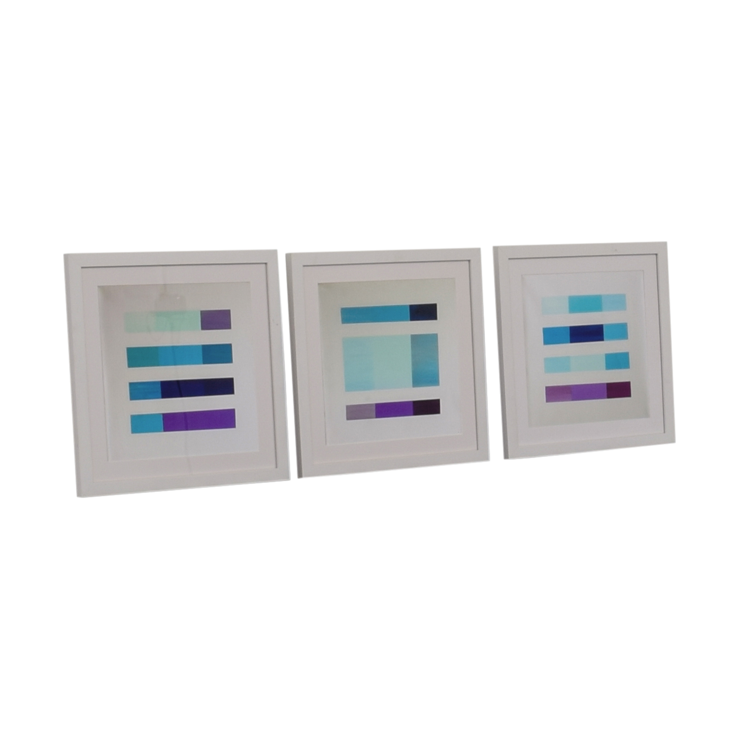 Castelli Castelli Purple and Blue Abstract Framed Prints on sale