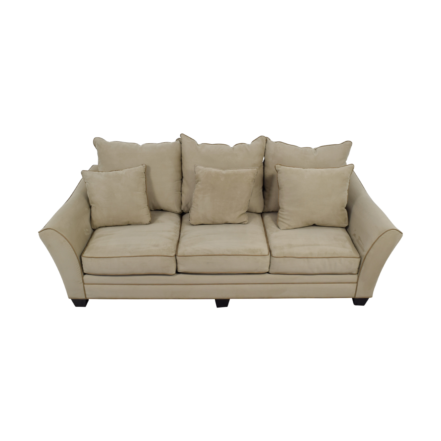 buy Raymour & Flanigan Beige Three-Cushion Sofa Raymour & Flanigan