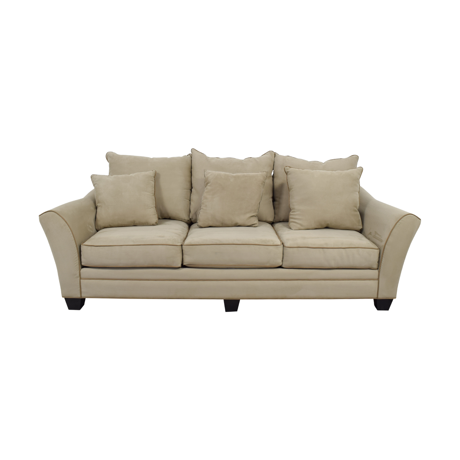 Raymour & Flanigan Raymour & Flanigan Beige Three-Cushion Sofa Classic Sofas