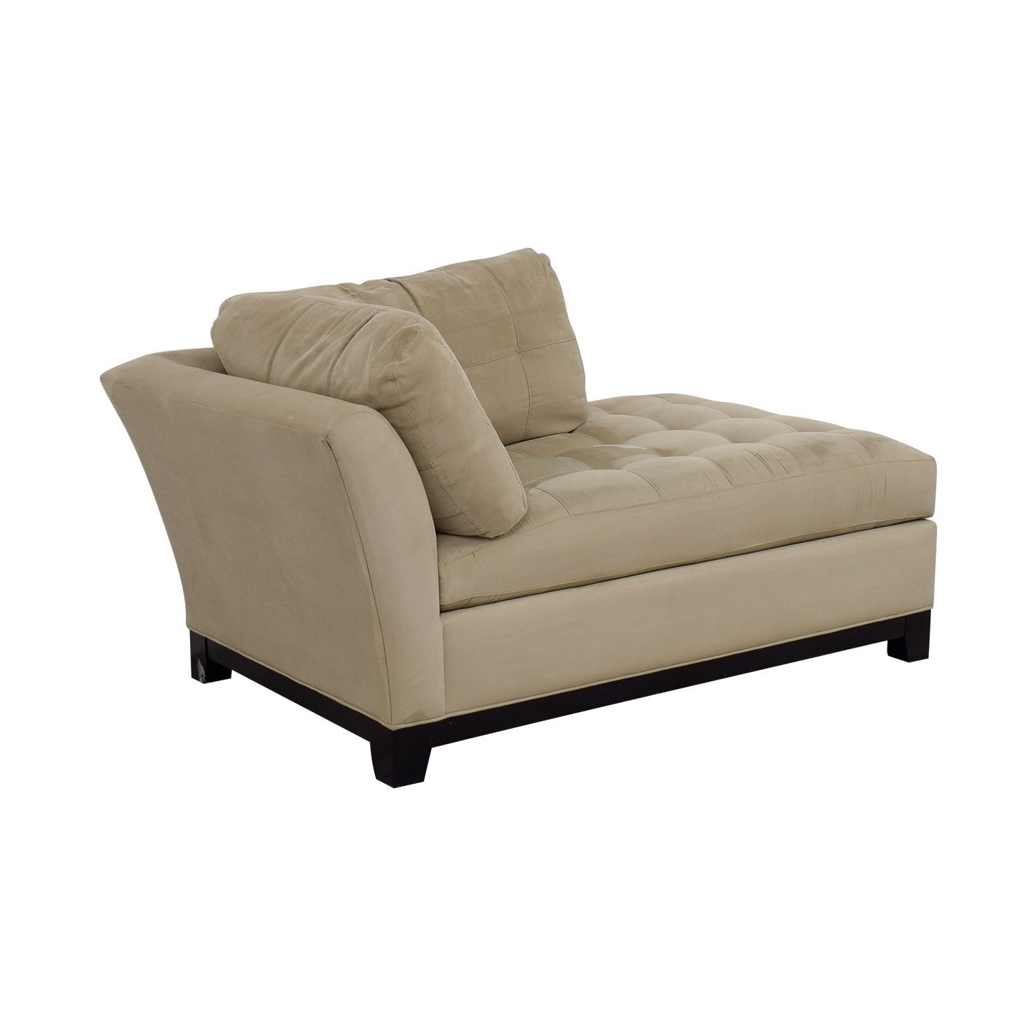shop Raymour and Flanigan Beige Tufted Chaise Raymour and Flanigan Chaises