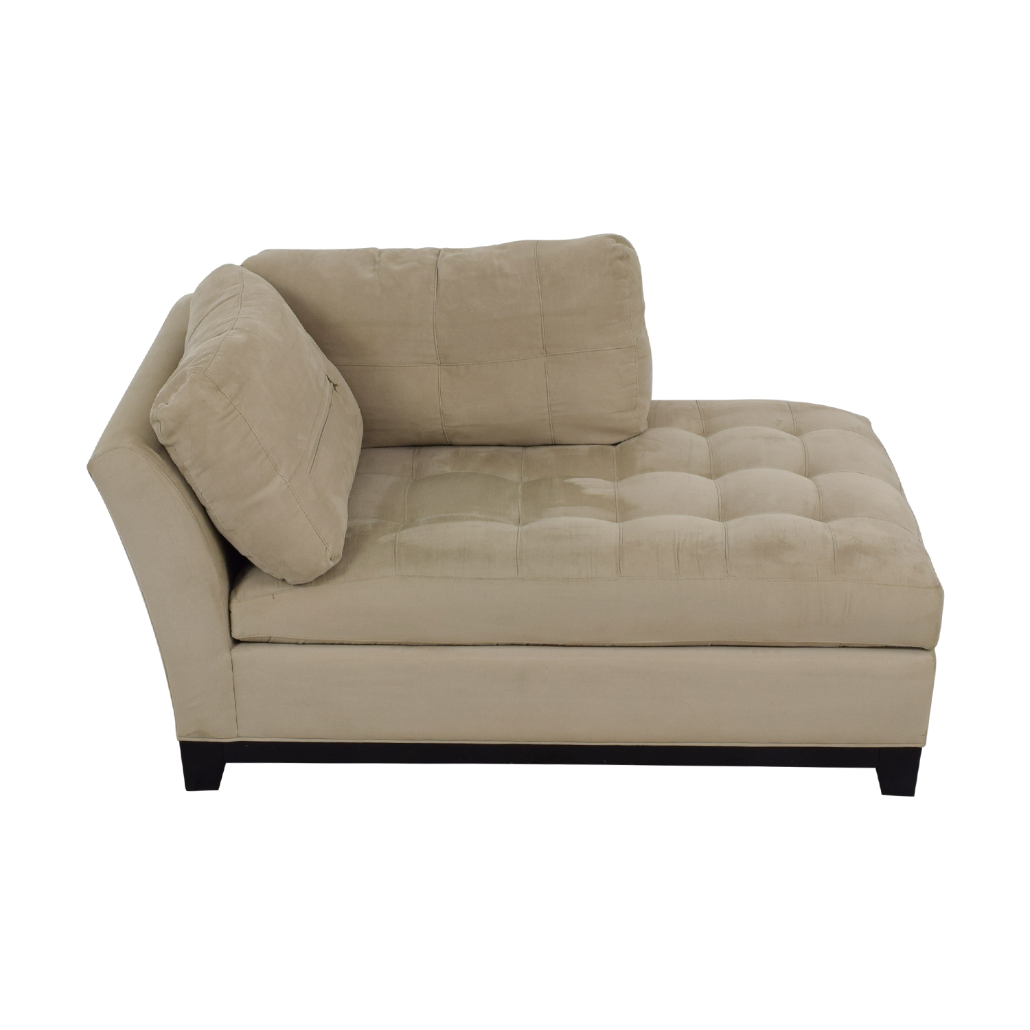 buy Raymour and Flanigan Beige Tufted Chaise Raymour and Flanigan Chaises