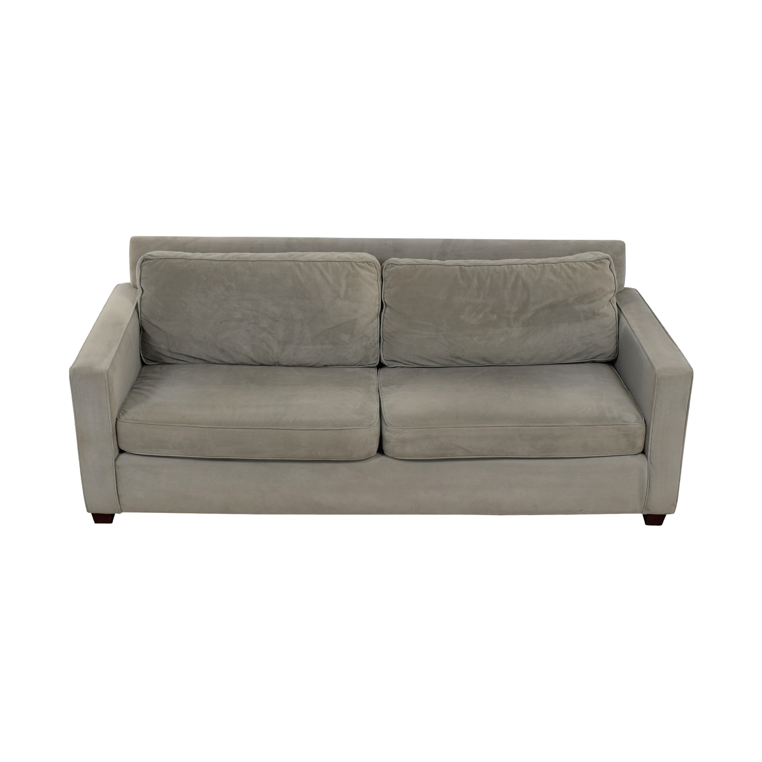 buy West Elm Henry Dove Grey Two-Cushion Sofa West Elm Sofas