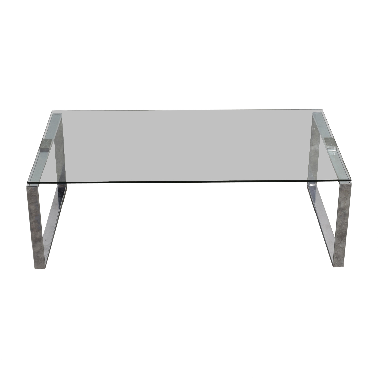 Chrome and Glass Coffee Table / Coffee Tables