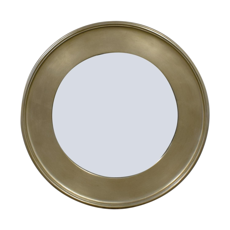 Bassett Bassett Round Silver Leaf Wall Mirror used