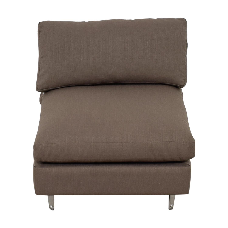 CB2 CB2 Cielo II Shadow Grey Armless Chair second hand