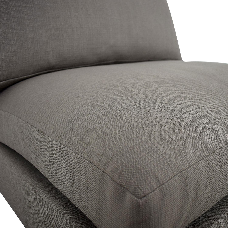 buy CB2 Cielo II Shadow Grey Armless Chair CB2 Chaises