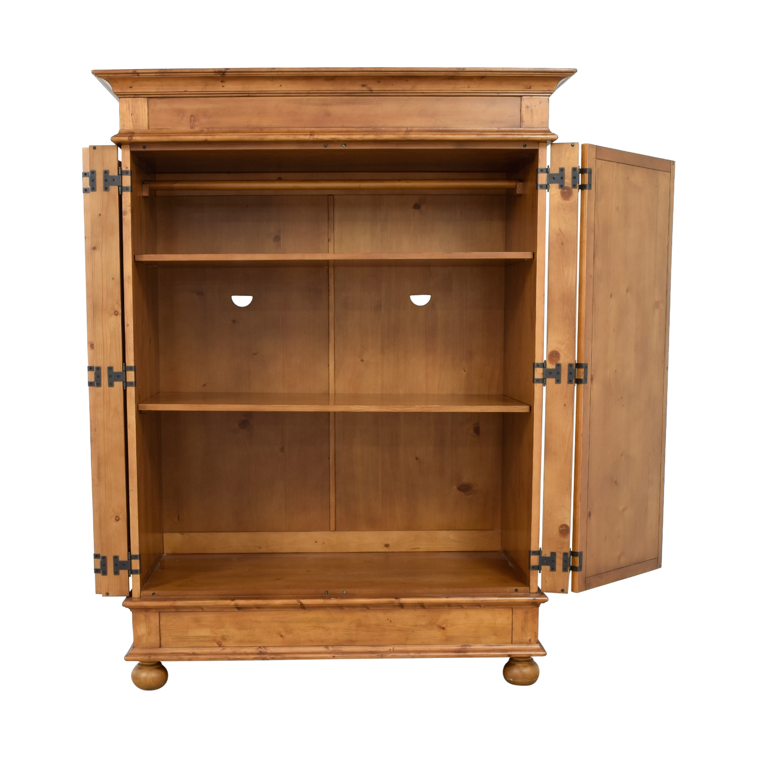 buy Pottery Barn Belvedere Wardrobe Armoire With Adjustable Shelves Pottery Barn