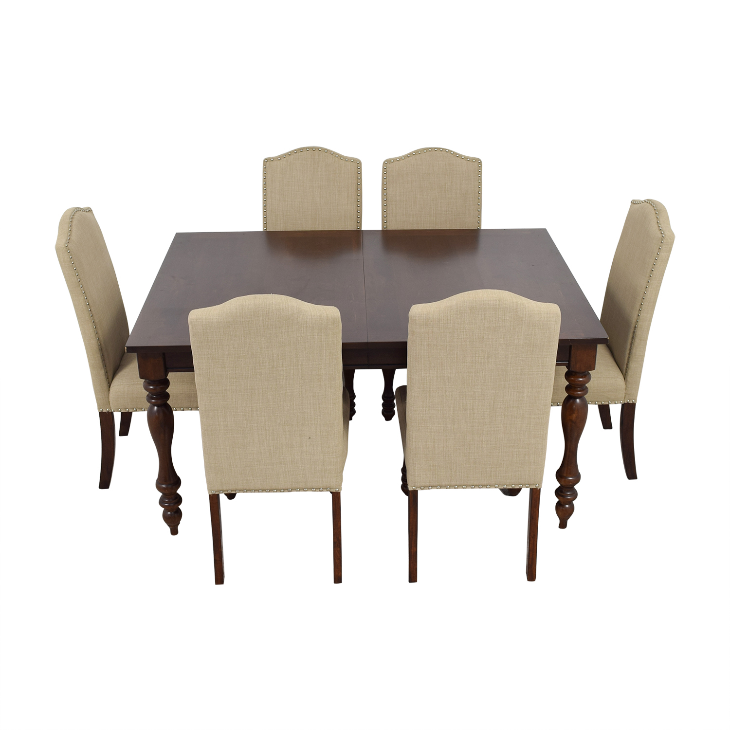buy Raymour & Flanigan Raymour & Flanigan Chateau Cherry Finish Extentable Dining Set online