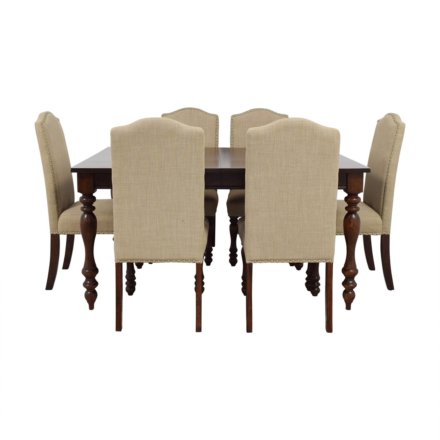 Raymour & Flanigan Raymour & Flanigan Chateau Cherry Finish Extentable Dining Set on sale