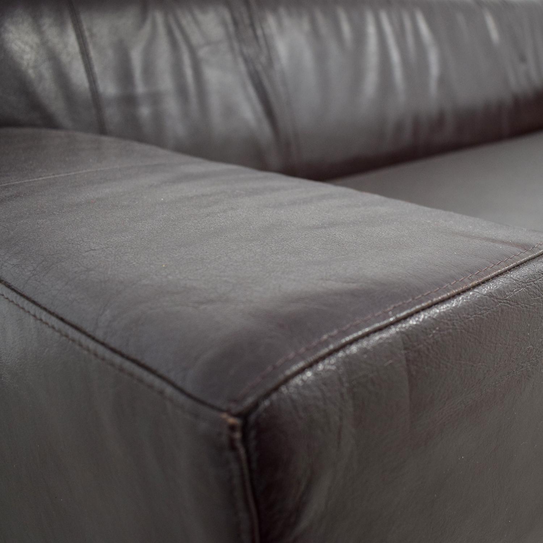Fine 90 Off Ikea Ikea Kramfors Brown Leather Love Seat Sofas Evergreenethics Interior Chair Design Evergreenethicsorg
