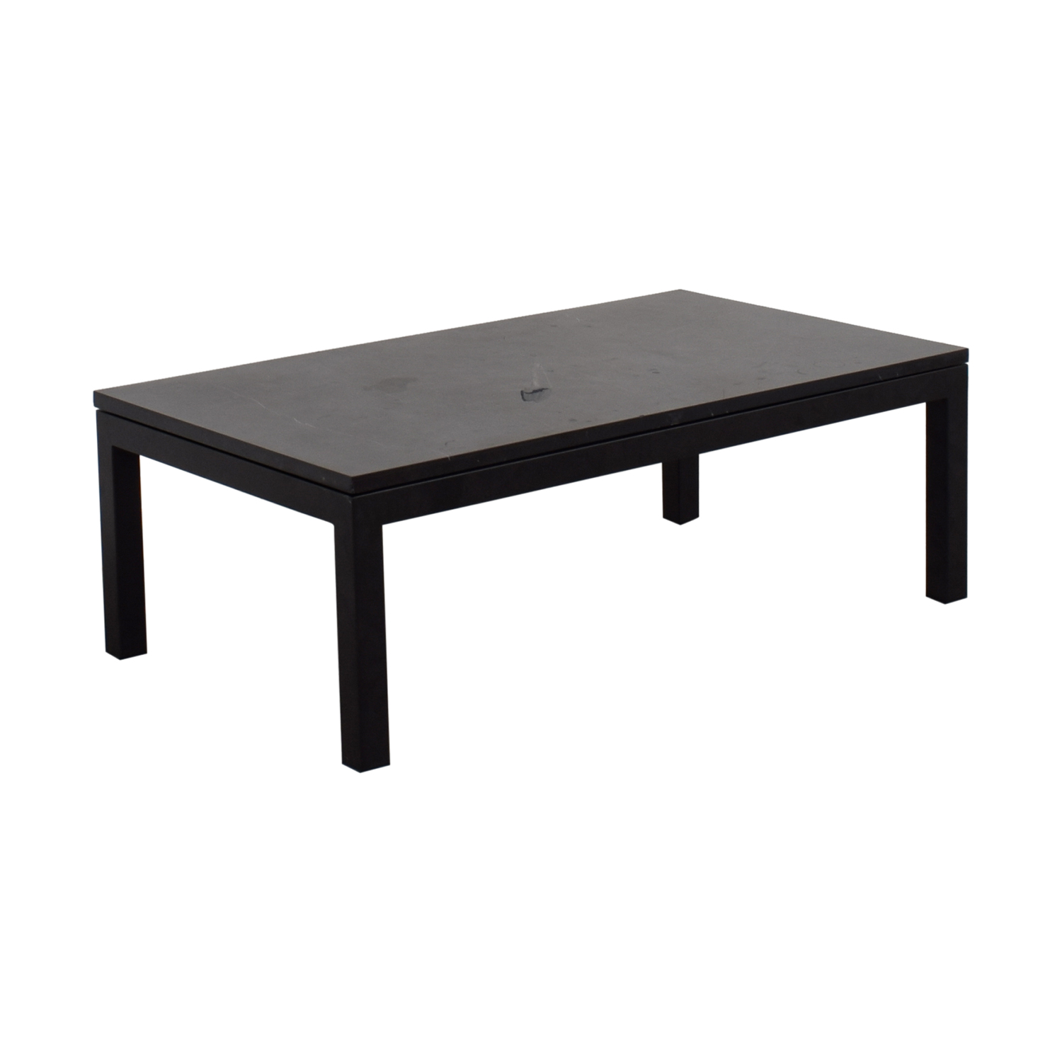 Crate And Barrel Black Marble Coffee Table