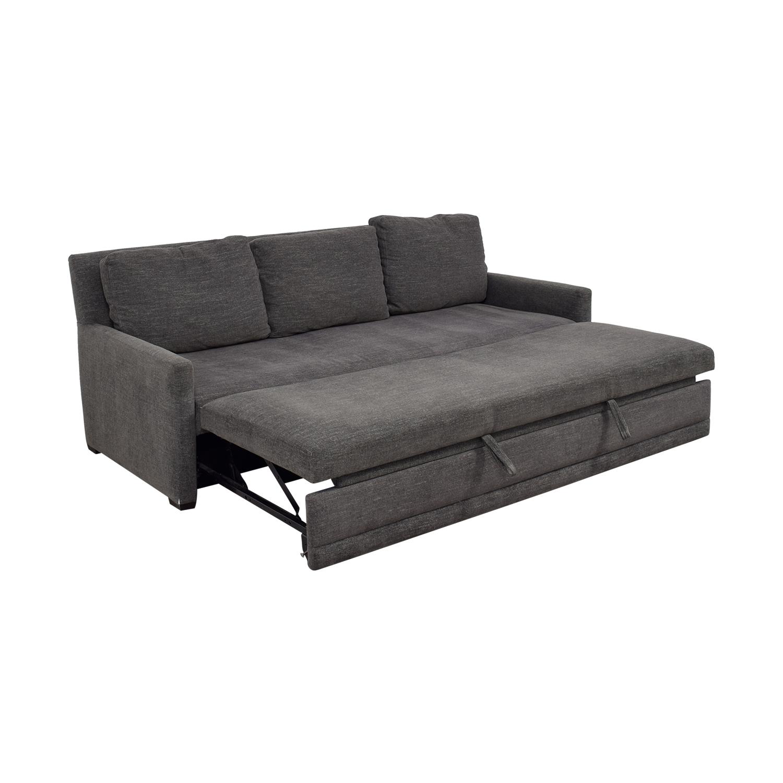 buy Crate & Barrel Crate & Barrel Reston Grey Queen Trundle Sleeper Sofabed online