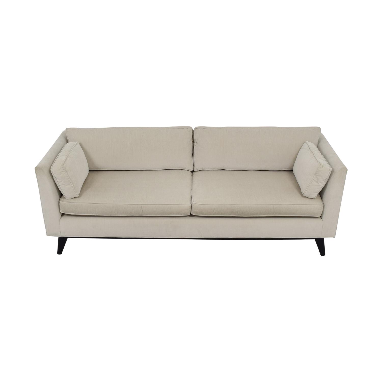 Mitchell Gold + Bob Williams Ainsley White Two-Cushion Sofa sale