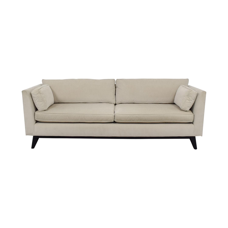 Shop Mitchell Gold + Bob Williams Ainsley White Two Cushion Sofa Mitchell  Gold + Bob ...