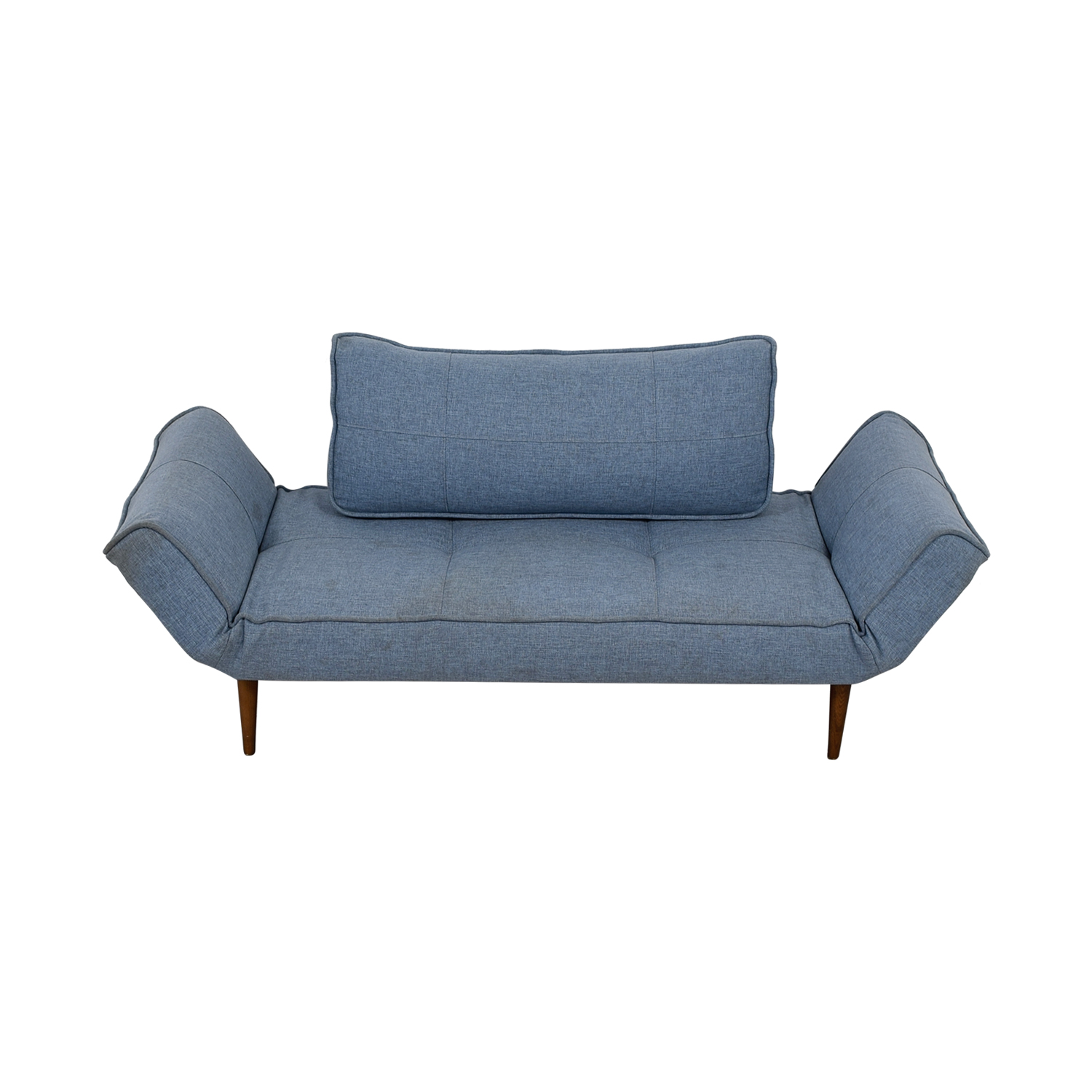 Blue Single Cushion Futon With Back Pillow price
