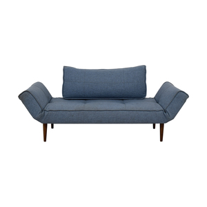 Blue Single Cushion Futon With Back Pillow coupon