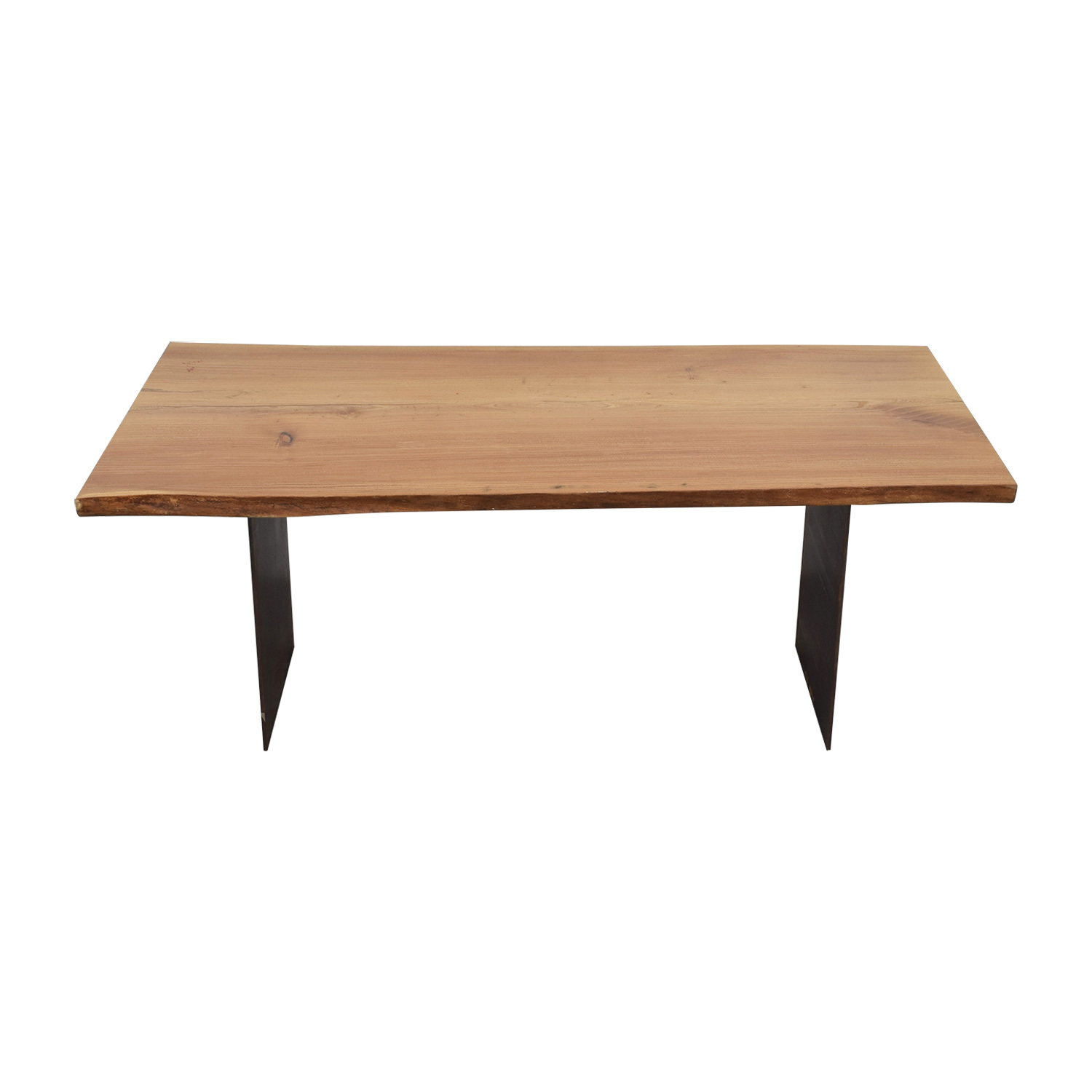 Urban Hardwoods Urban Hardwoods Red Elm Slab Wood Dining Table for sale