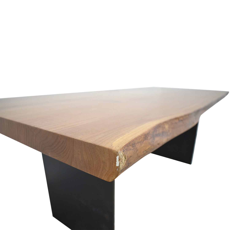 Urban Hardwoods Urban Hardwoods Red Elm Slab Wood Dining Table Dinner Tables