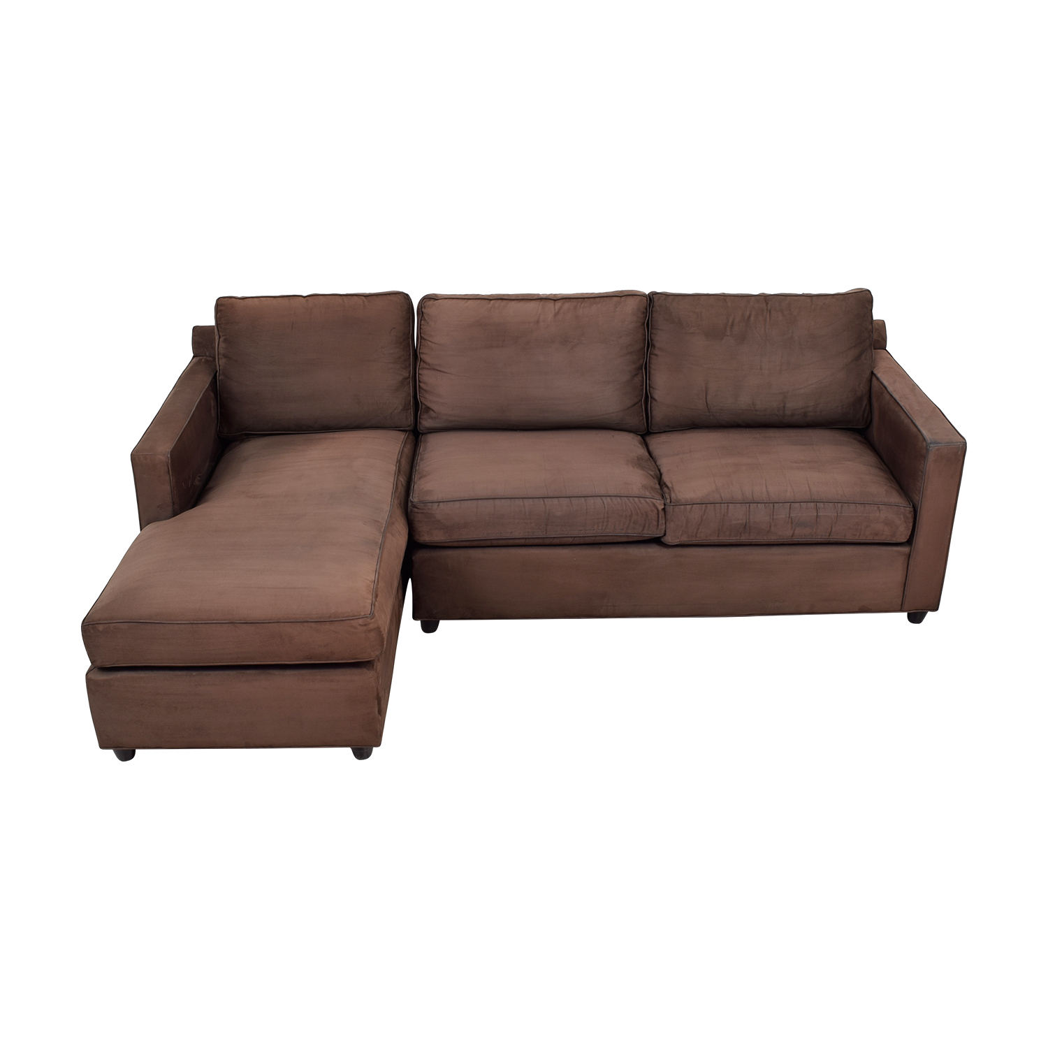 Crate & Barrel Crate & Barrel Diplomat Brown Sectional for sale