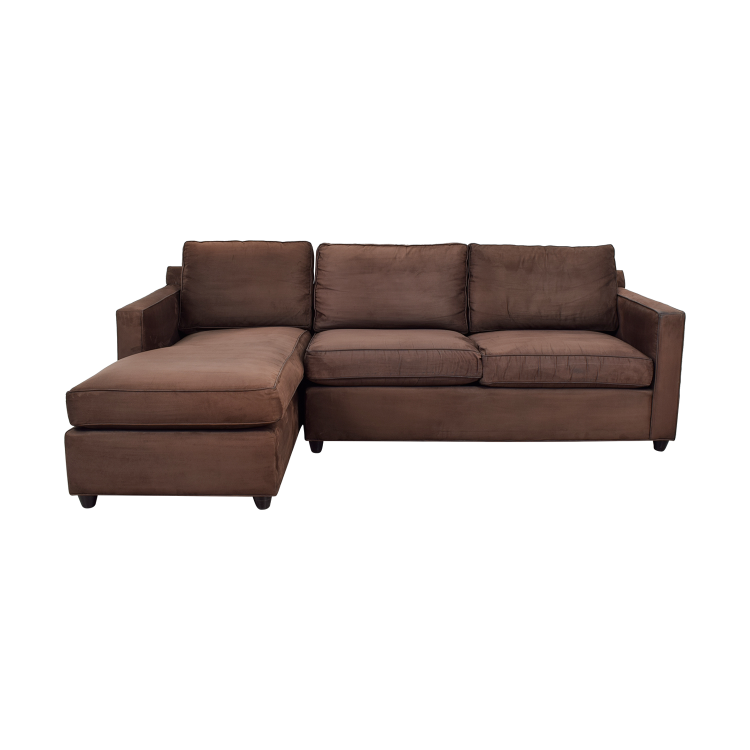 Crate & Barrel Crate & Barrel Diplomat Brown Sectional on sale
