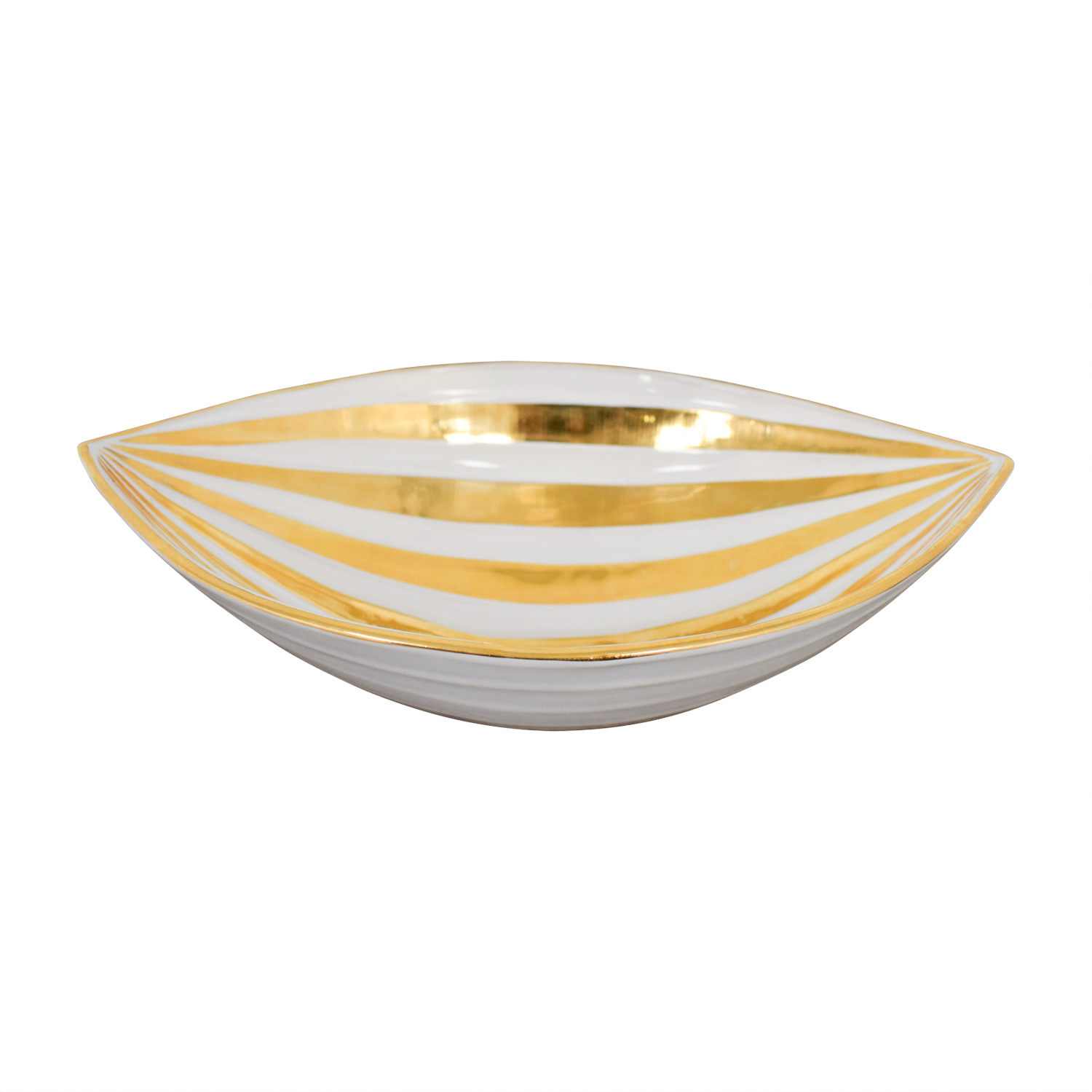 buy Jonathan Adler Jonathan Adler Gold and White Glazed Ceramic Bowl online