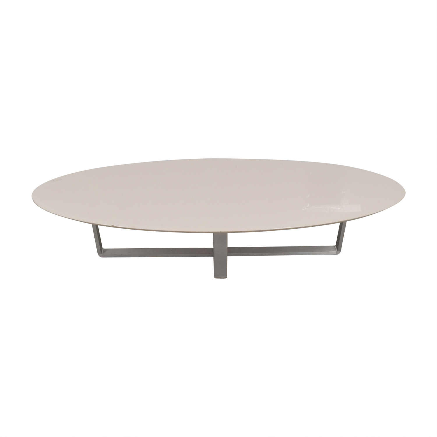 Argo Furniture Argo Furniture White Lacquer Oval Coffee Table price