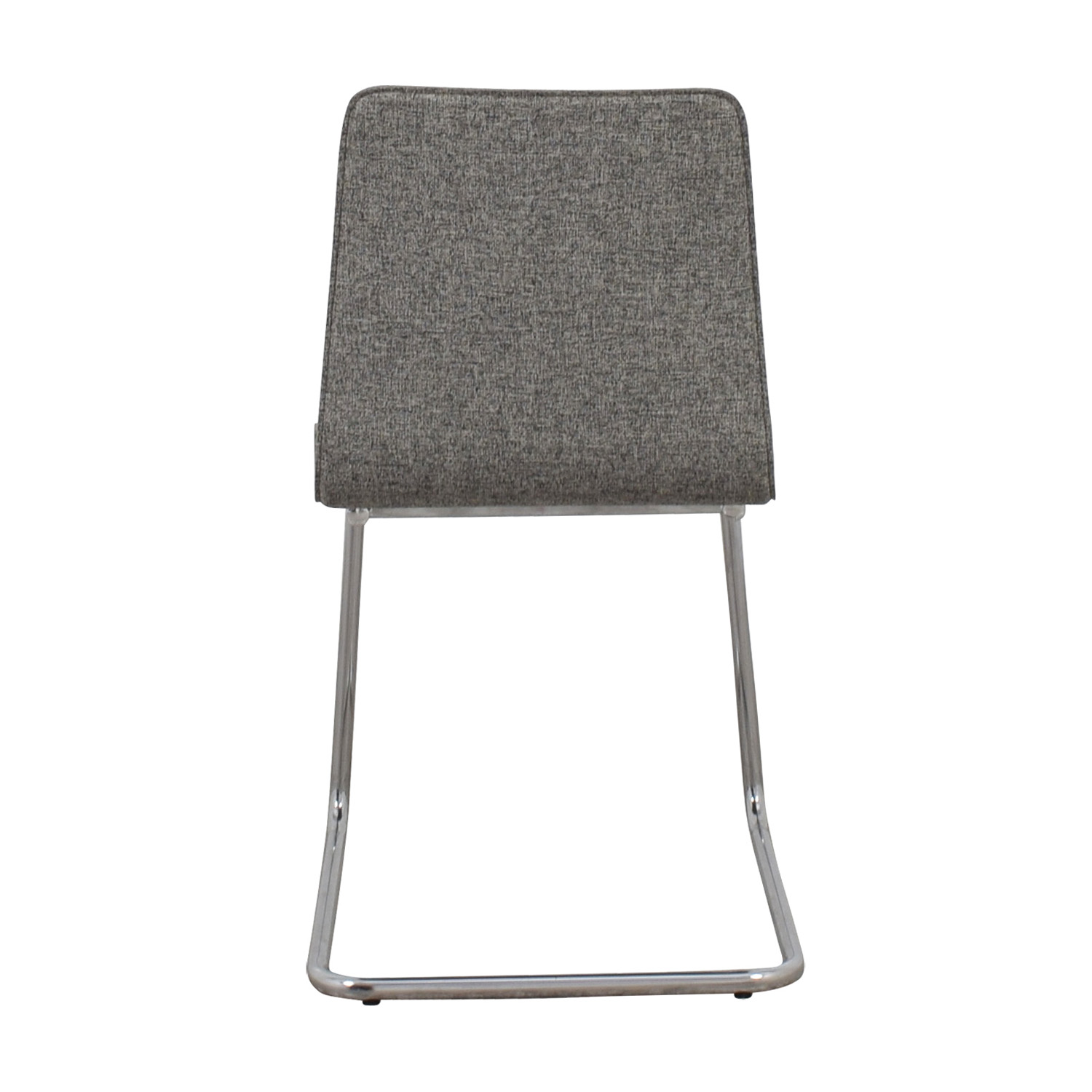 CN2 Grey Pony Tweed Chair CB2