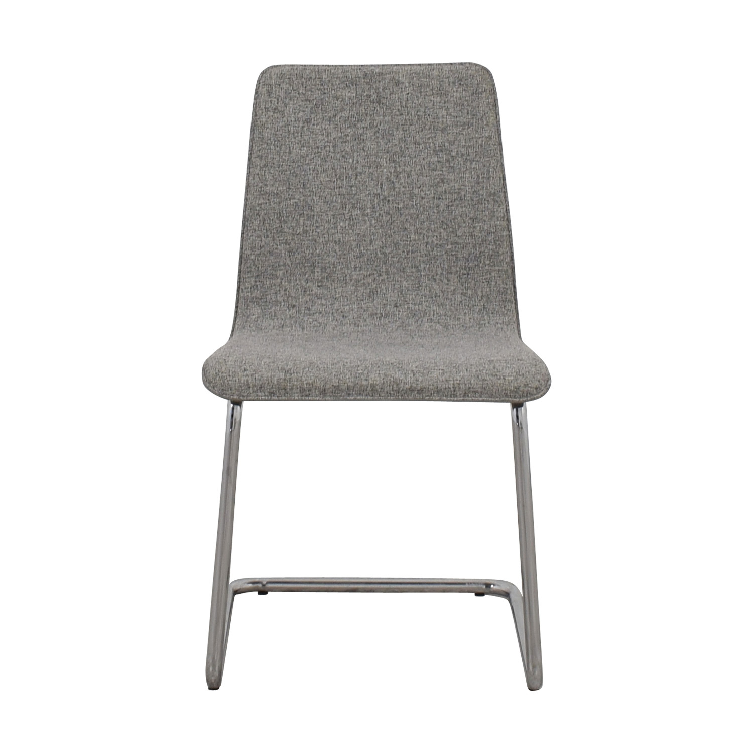 CB2 CN2 Grey Pony Tweed Chair nyc