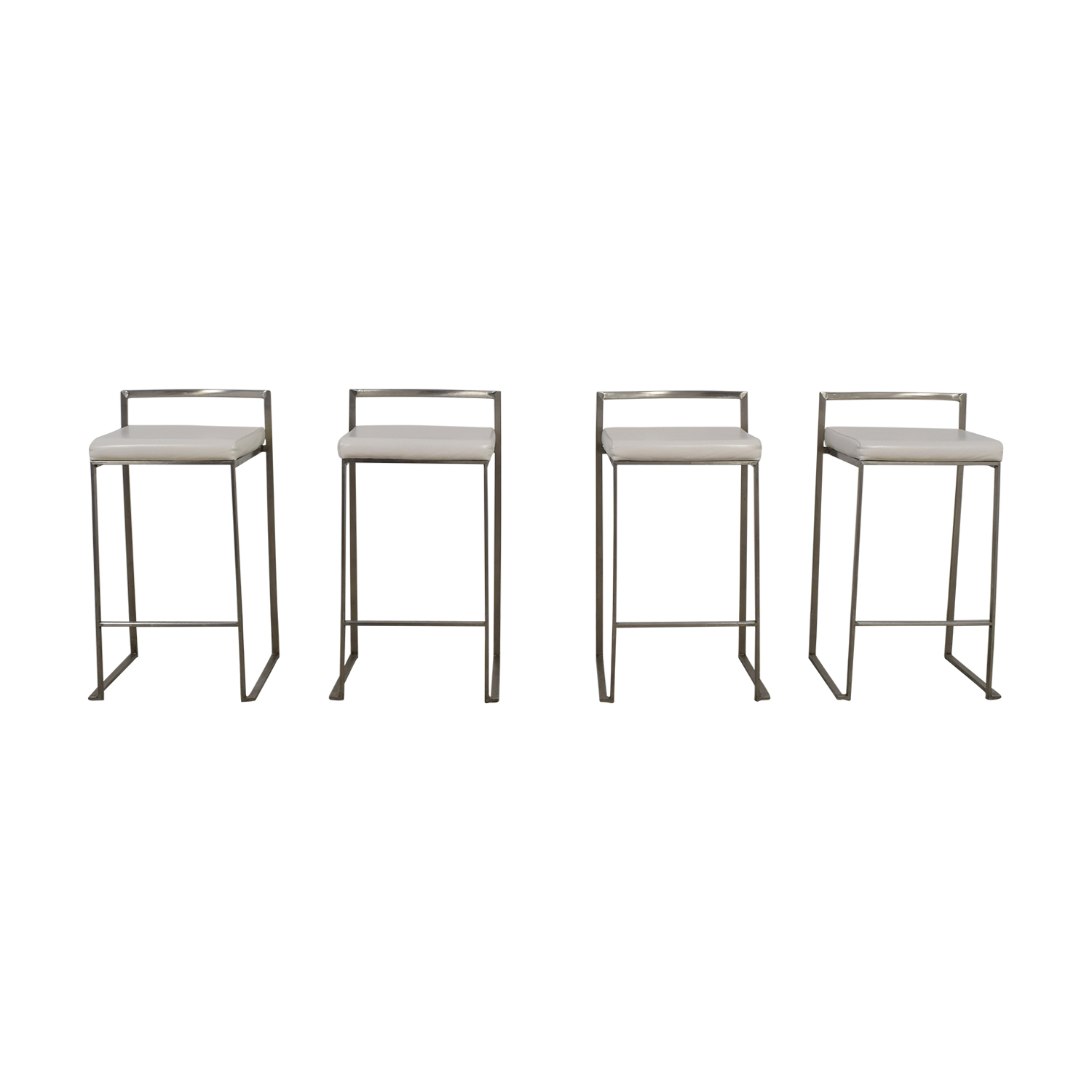 Brayden Studio White Stainless Steel Bar Stools sale