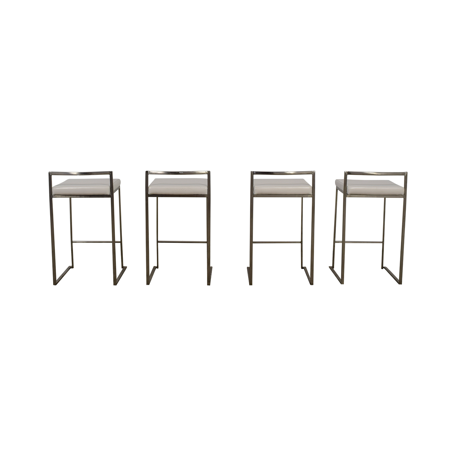 Brayden Studio White Stainless Steel Bar Stools / Stools