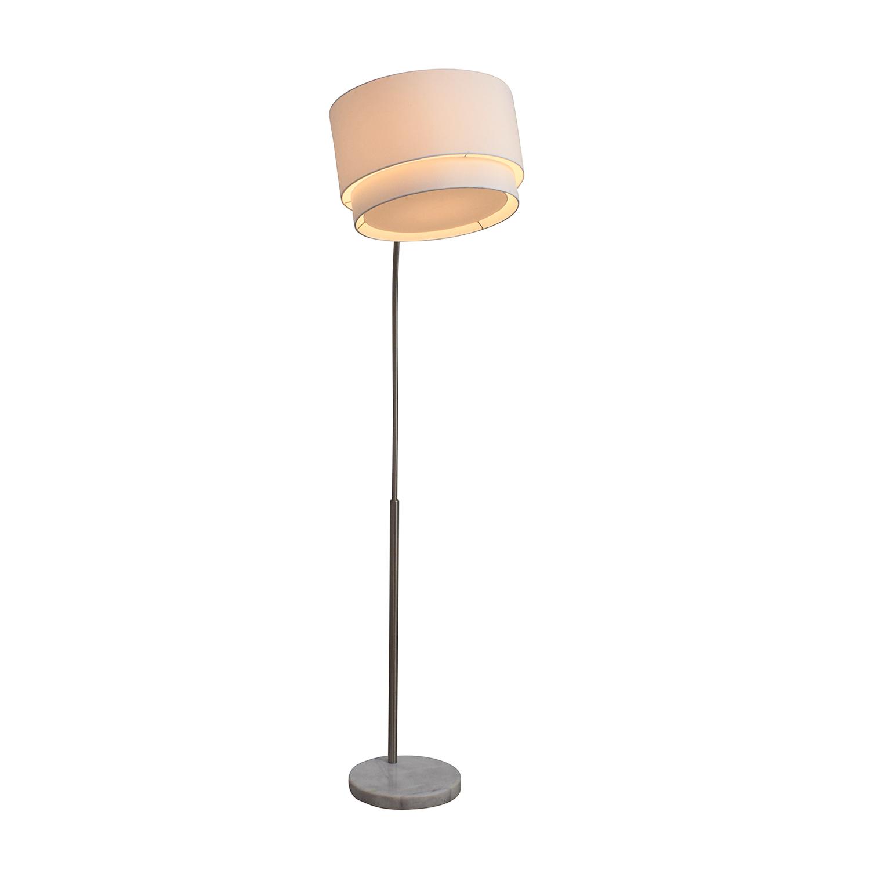 Crate & Barrel Crate & Barrel Meryl Arc Marble Base Floor Lamp on sale