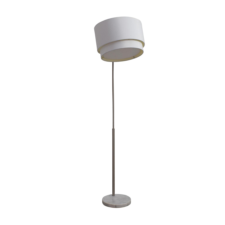 buy Crate & Barrel Meryl Arc Marble Base Floor Lamp Crate & Barrel