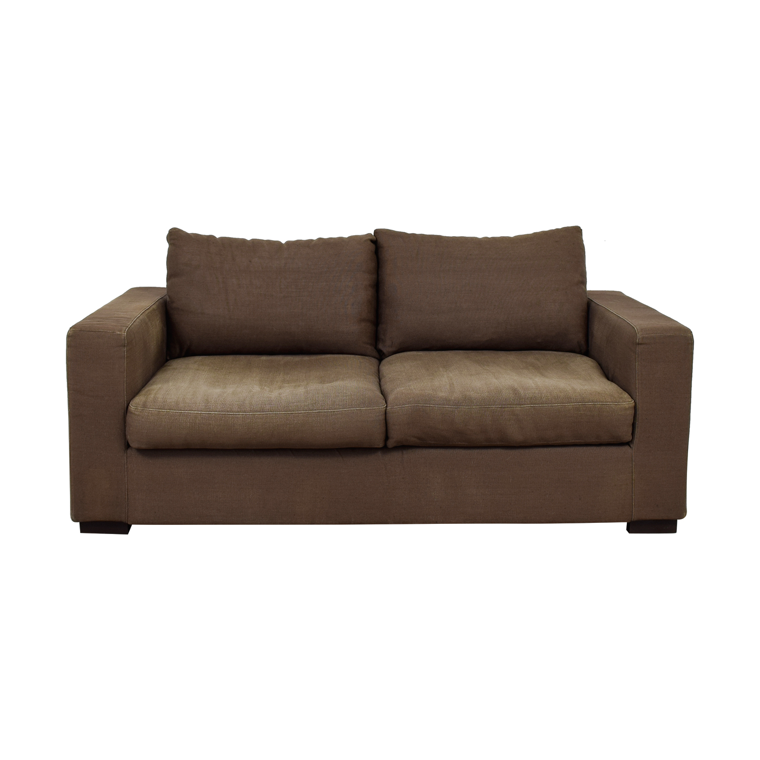 Tissus Colbert Tissus Colbert Grey Two-Cushion Sofa dimensions