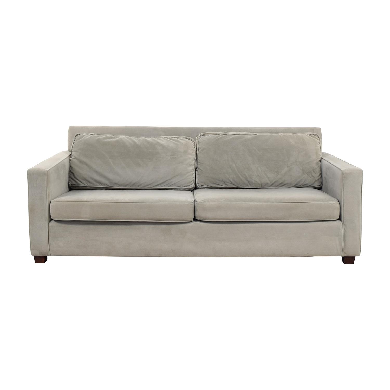 Tissus Colbert Tissus Colbert Grey Two-Cushion Sofa dimensions