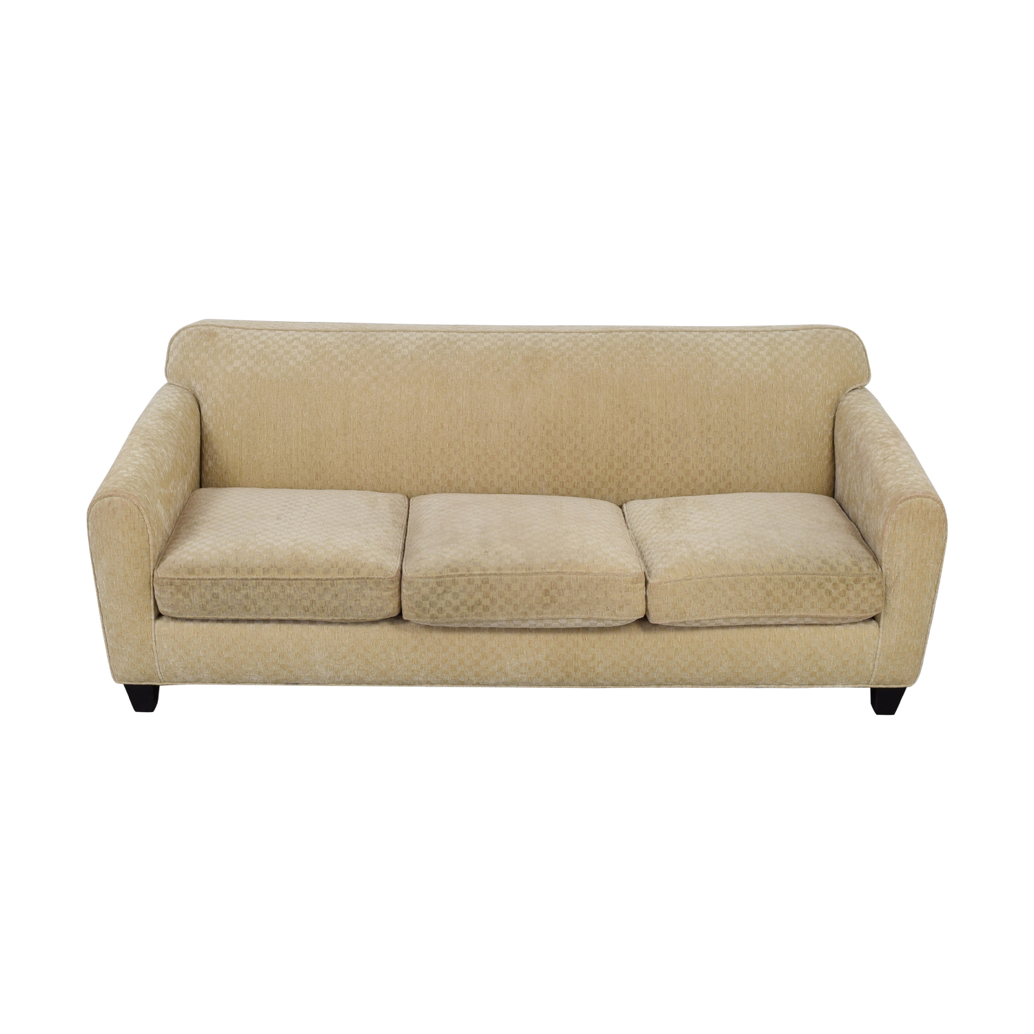 buy Custom Calico Corners Beige Three-Cushion Couch