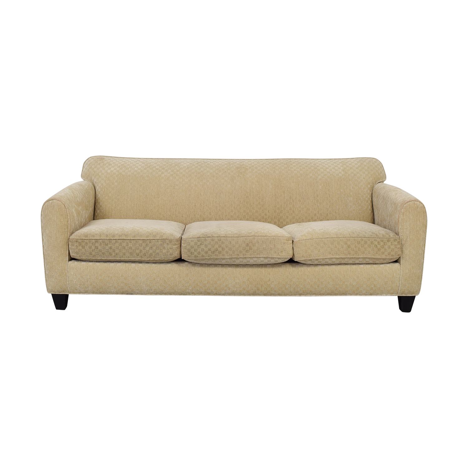 buy Custom Calico Corners Beige Three-Cushion Couch  Sofas