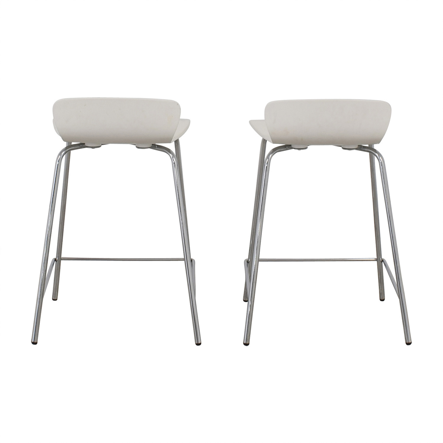 Crate and Barrel Felix White Counter Stools / Chairs