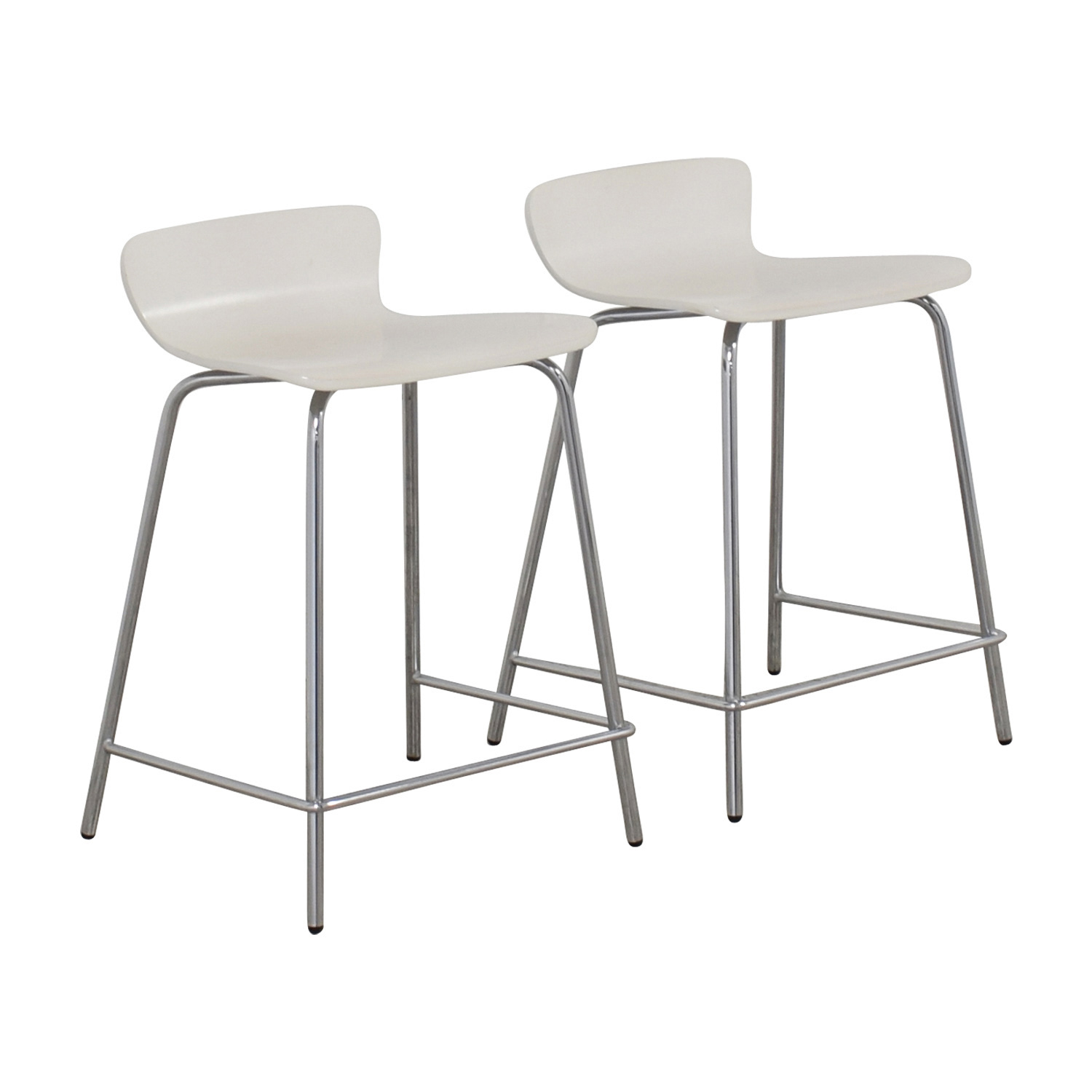 Crate and Barrel Crate and Barrel Felix White Counter Stools coupon