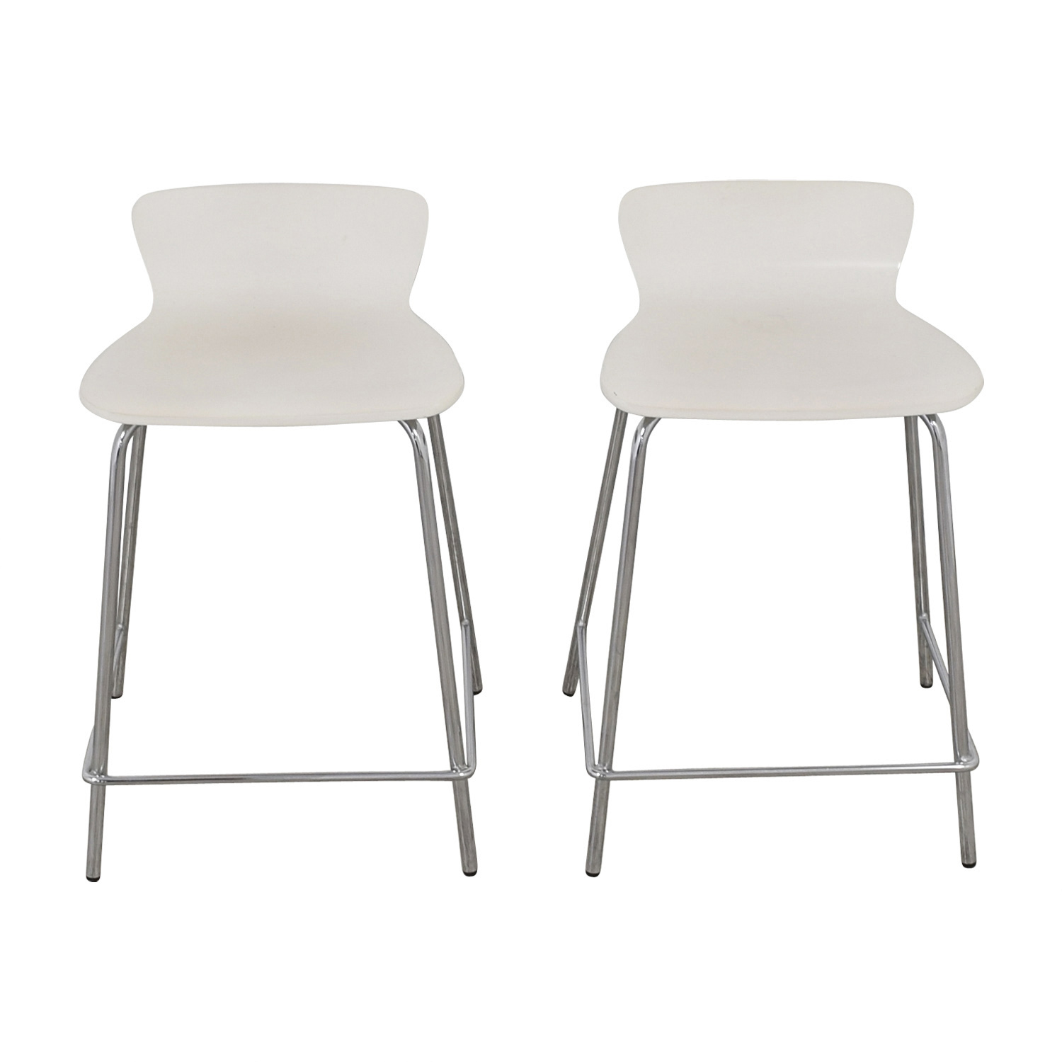 Crate and Barrel Crate and Barrel Felix White Counter Stools dimensions