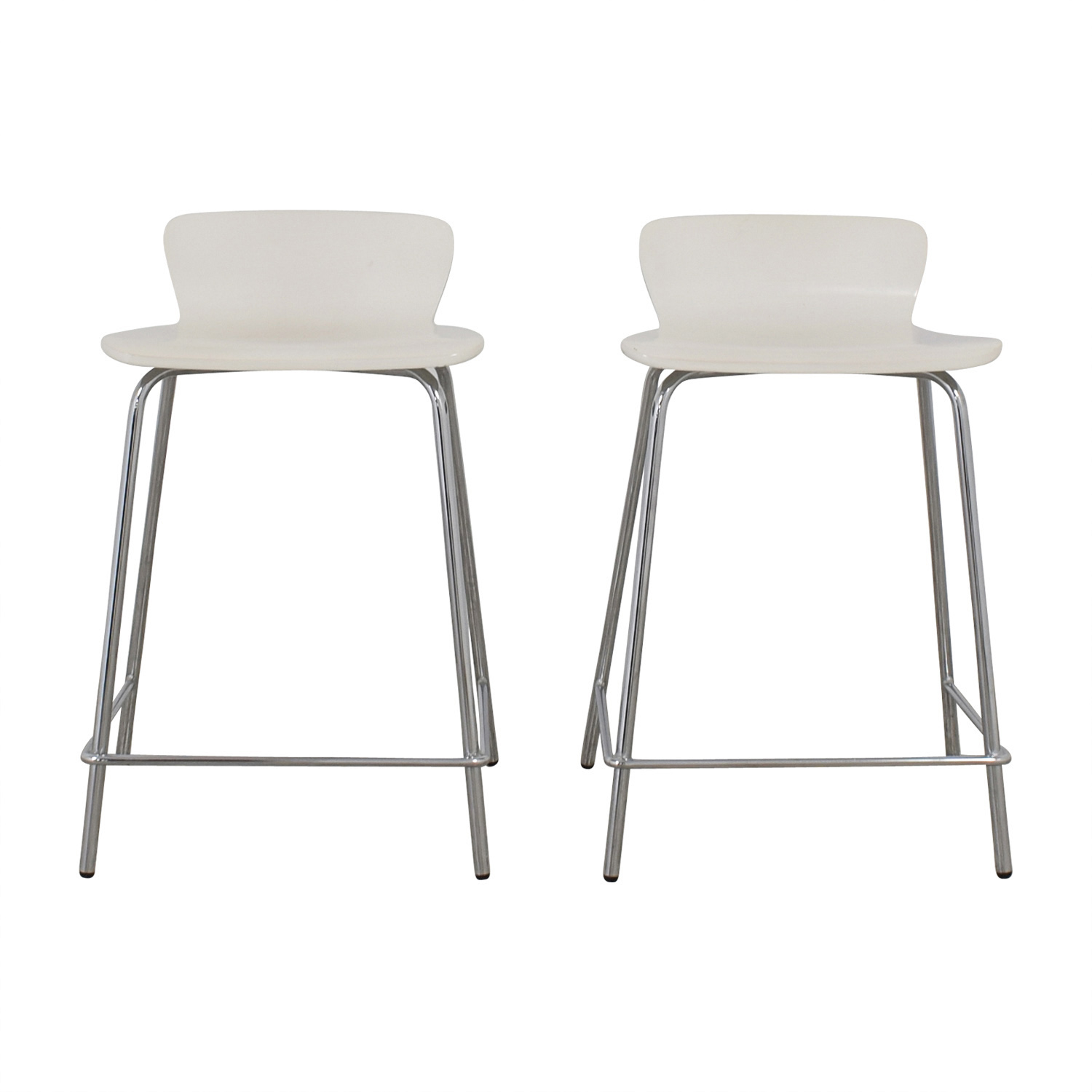 Crate and Barrel Crate and Barrel Felix White Counter Stools used