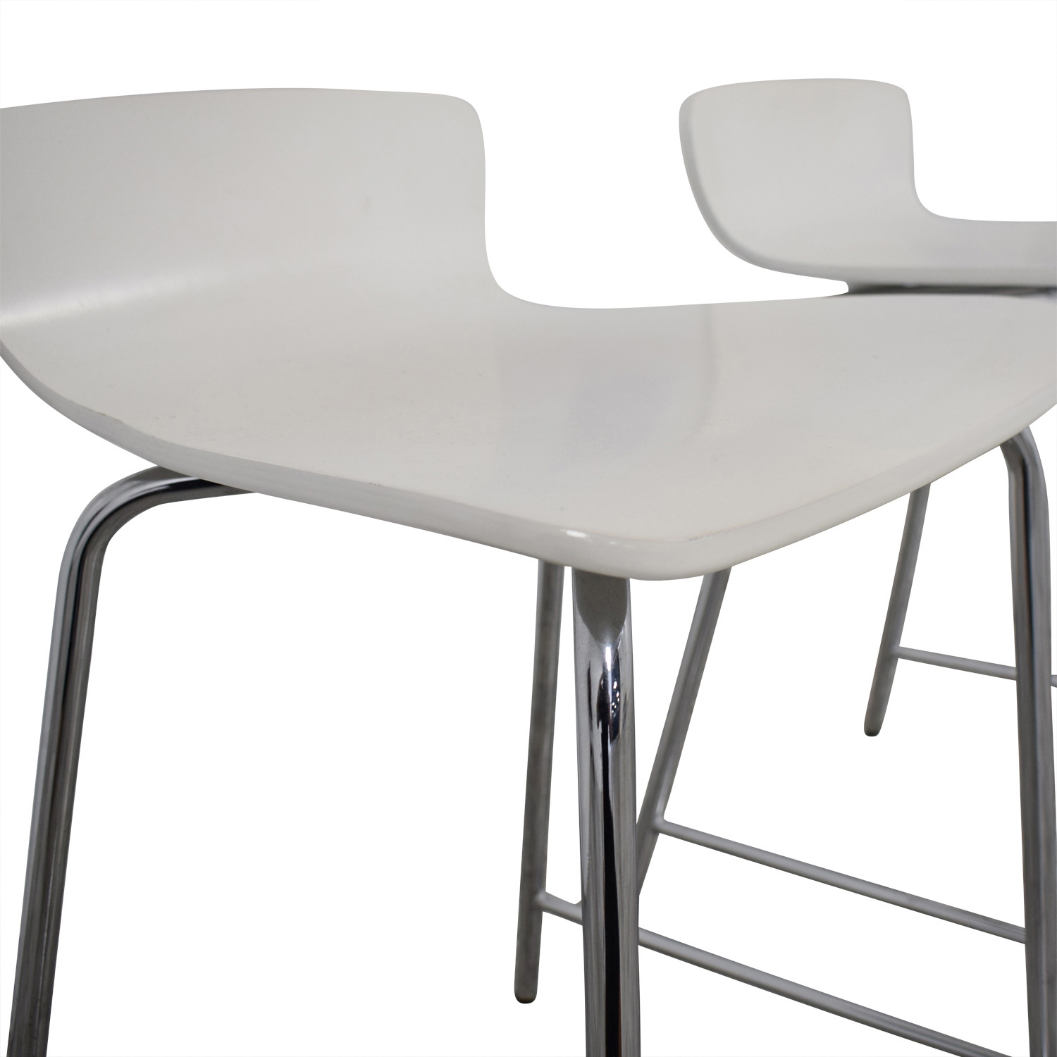 Crate and Barrel Crate and Barrel Felix White Counter Stools for sale