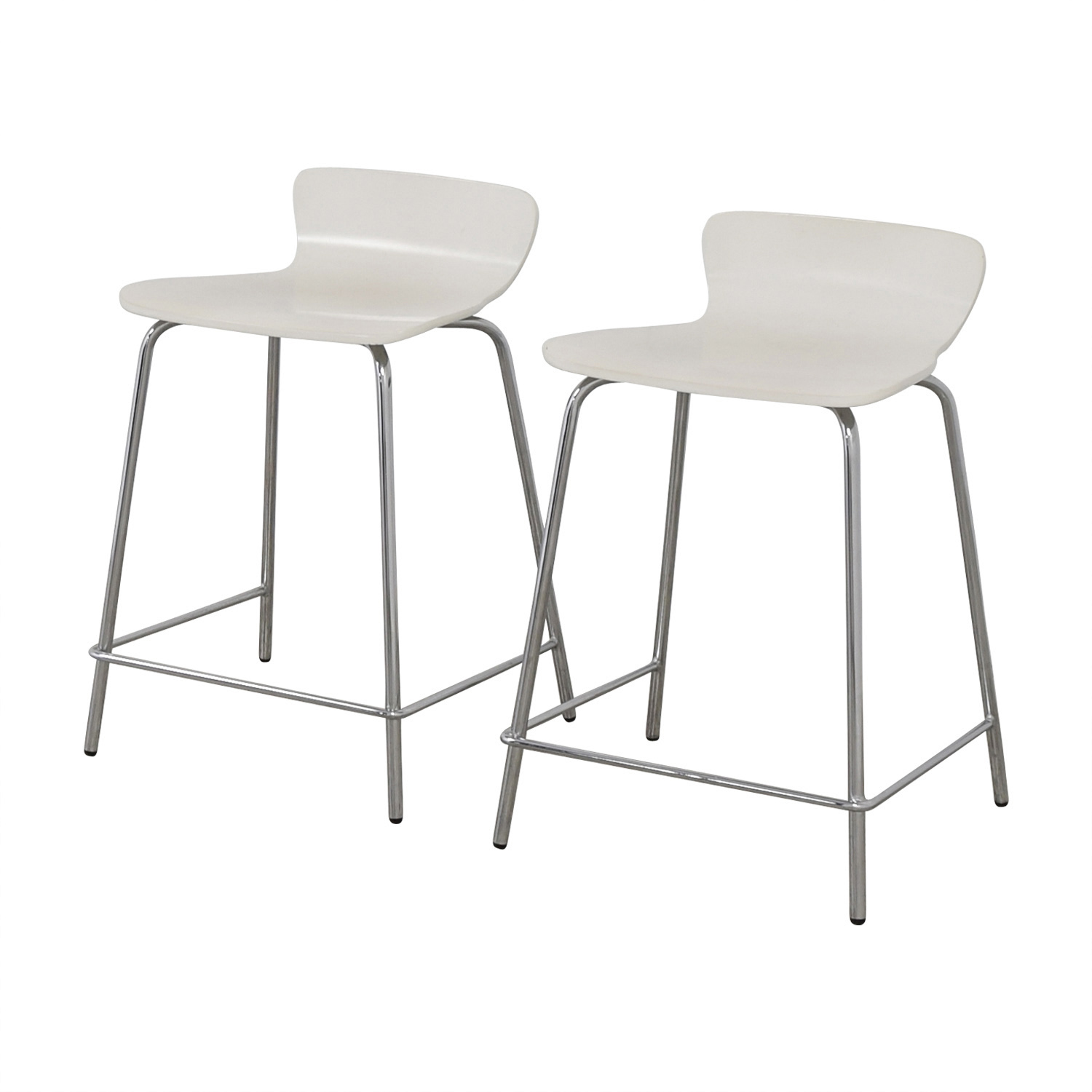 Crate and Barrel Crate and Barrel Felix White Counter Stools discount