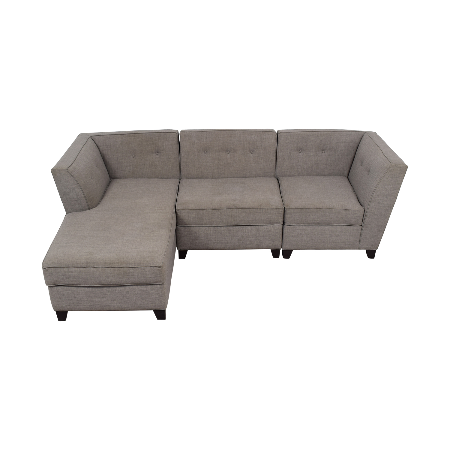 Roxanne Roxanne Grey Performance Fabric Chaise Sectional nj