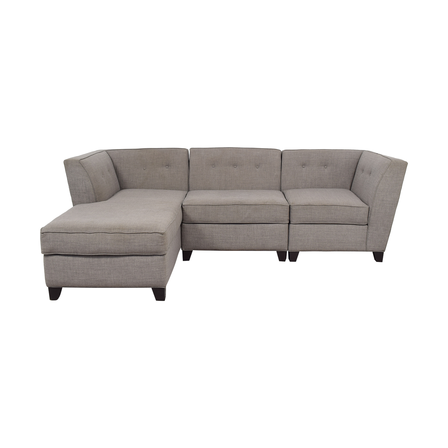 Roxanne Roxanne Grey Performance Fabric Chaise Sectional Sectionals